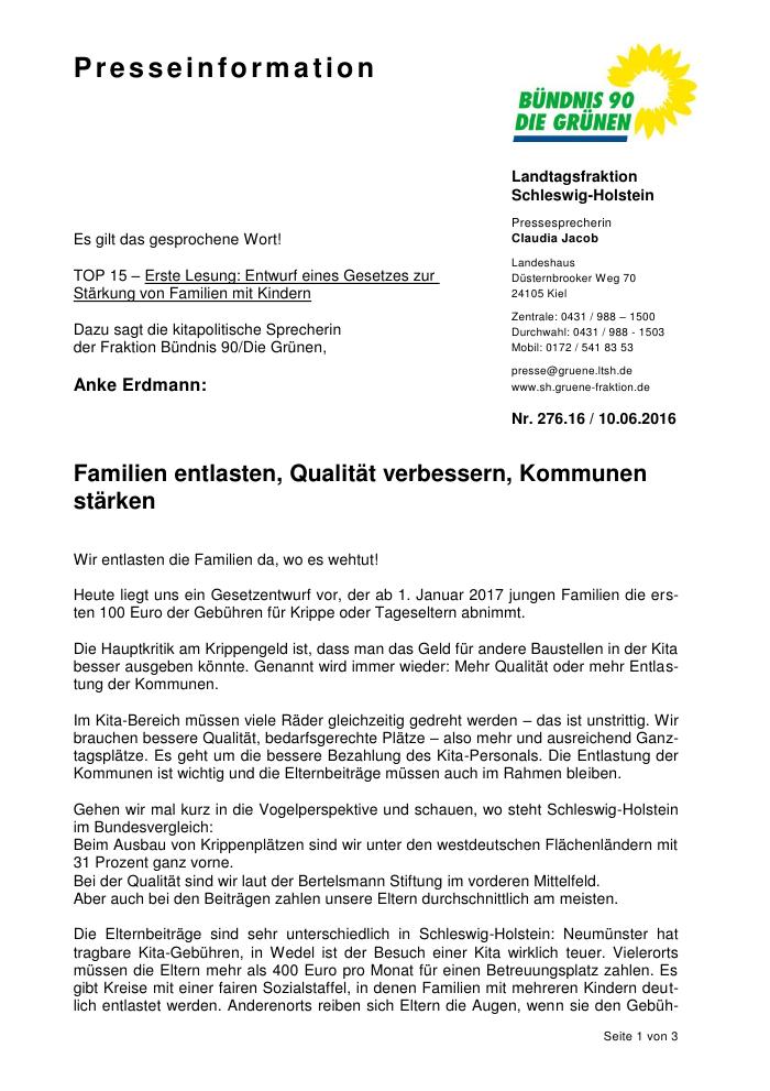 Landtag Sh Anke Erdmann Zum Gesetzesentwurf Zur Stärkung Von